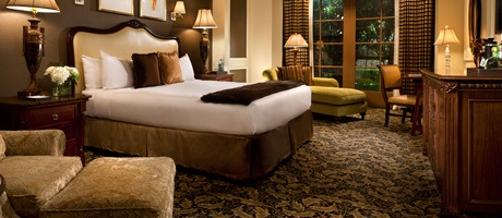 Bedroom of the Mediterranean Suite at Green Valley Ranch