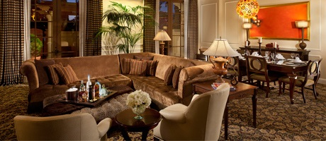 Living Room of the Mediterranean Suite at Green Valley Ranch