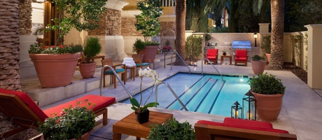 Private Pool & Patio Area of the Villa Suite in Las Vegas at Green Valley Ranch