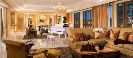 Living Room of the Penthouse Suite in Las Vegas at Green Valley Ranch