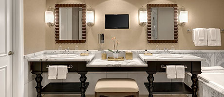 Bathroom of the Mediterranean Suite at Green Valley Ranch