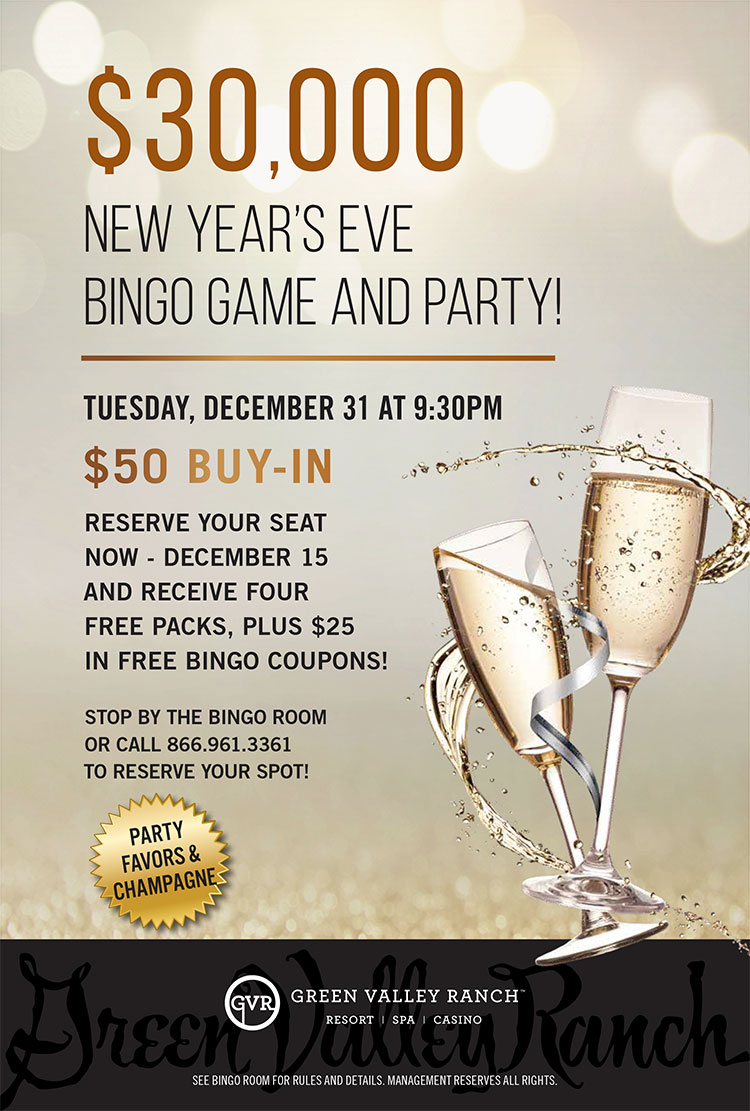 Green Valley Ranch New Year's Eve Bingo Party