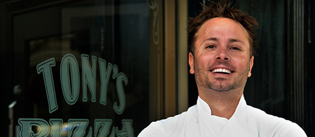 Tony Gemingnani Chef of Pizza Rock inside Green Valley Ranch