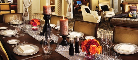Dining Table of the Tuscany Suite in Las Vegas at Green Valley Ranch