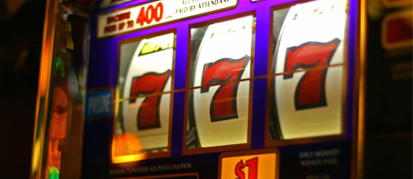 Triple red 7s on a slot machine